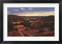Framed Bandera Valley Sunset