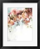 Framed Apricot Roses II