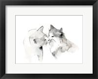 Framed Cat Kiss