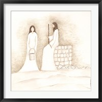 Framed Jesus Talks with Woman at Well