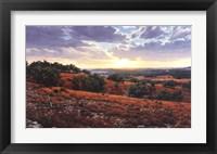 Framed Smithson Valley Sunset
