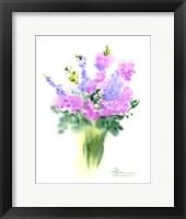 Framed Pink Flowers III