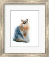Framed Ginger Cat II