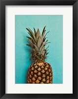 Framed Blue Pineapple