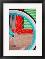 Framed Blue Bicycle