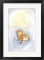 Framed Lion and Lamb