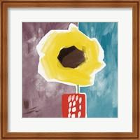 Framed Sunflower in Small Vase