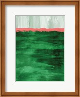 Framed Green Coral