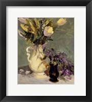 Framed Tulips and Lavender