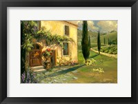 Framed Tuscan Spring