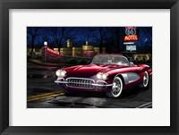 Framed Red Vette 66