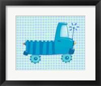 Framed Blue Truck