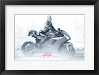 Framed Marilyn's Ride in Pink