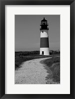 Framed Black and Lighthouse
