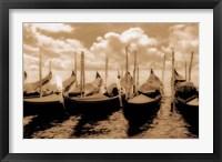 Framed Venice Gondolas