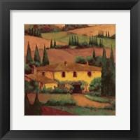 Framed Tuscany Villa