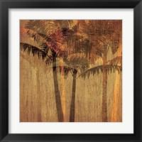 Framed Sunset Palms II