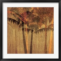 Framed Sunset Palms II