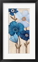 Framed Fleurs Bleues I
