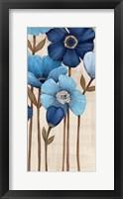 Framed Fleurs Bleues II