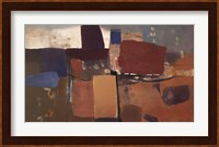 Framed Abstract in Brown