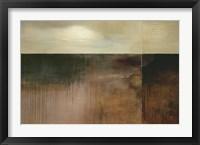 Framed Deep Sienna Sky