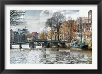 Framed Zwanenburgwal Canal