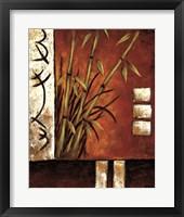 Framed Russet Silhouette II