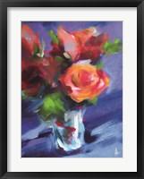 Framed Orange Rose