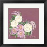 Framed Floral in Plum