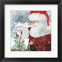 Framed Santa Tree Star