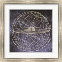 Framed Vintage Celestial Planets