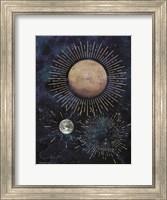 Framed Gold Celestial Rays I