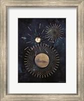Framed Gold Celestial Rays III