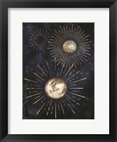 Framed Gold Celestial Rays IV