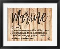 Framed Marine