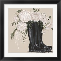 Framed Flowers and Black Boots