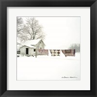 Framed Quilts in Snow