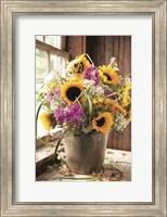 Framed Wildflowers in Bucket