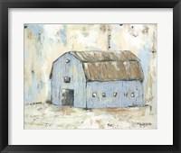 Framed Blue Barnyard