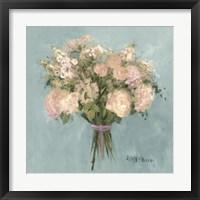 Framed Blue Rose Bouquet I