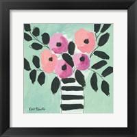 Framed Blooms & Stripes