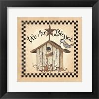 Framed We Are Blessed Birdhouse
