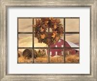 Framed Fall Window View