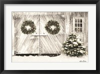 Framed Christmas Barn Doors
