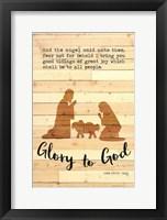 Framed Glory to God