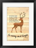 Framed Be Merry and Bright Deer