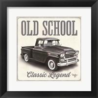 Old School Vintage Trucks II Framed Print
