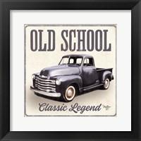 Old School Vintage Trucks IV Framed Print