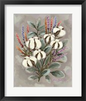 Framed Cotton Bouquet